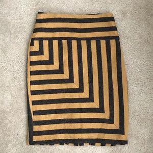 Anthropologie Eva Franco tweed pencil skirt size 4